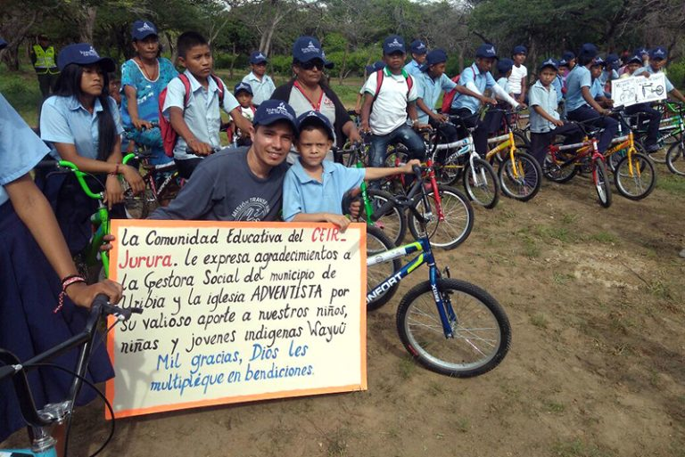 In North Colombia, Hundreds of Children Get New Bicycles to Attend School