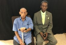 Carlos Ortiz García (left) sits next to Gibbs Pierre (right), pastor of the San Jose Adventist Church in San Juan, Puerto Rico. [Photo: East Puerto Rico Conference, Inter American Division News]