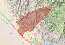 Fire warning area for the Camp Fire located near Paradise, California. [Photo: Google Maps]
