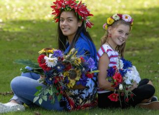 Students and staff at LongburnAdventistCollege in Palmerston North, New Zealand, were decked out as brightly as possible on the day they collected funds for a donation to the families of victims who died in the recent mosque shootings. [Photo: Warwick Smith]