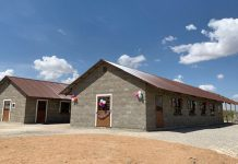 New facilities of the Kajiado Adventist School and Rescue Center in Kenya, built and furnished by a Maranatha Volunteers International crew and dedicated on March 8, 2019. The center will house 150 girls, many of whom have escaped from the threat of female genital mutilation and child marriages. [Photo: Maranatha Volunteers International]