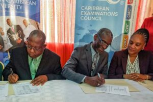 NCU SIGNS MOU TO ACCEPT CXC ASSOC. DEGREE.
