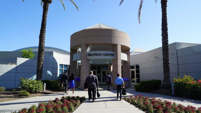A view of the main entrance to Loma Linda University's Drayson Center, where most sessions of the 3rd Global Conference on Health and Lifestyle are taking place. The event has gathered more than 800 hundred church leaders, health practitioners, and healthy lifestyle advocates from July 9 to 13, 2019. [Photo: Adventist News Network]