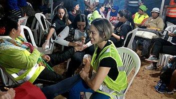Adventist volunteers provide care to pilgrims in Minas Gerais
