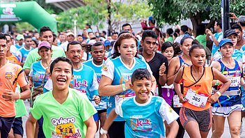 Hundred's run during 'Let's Move to Live' race in North Colombia
