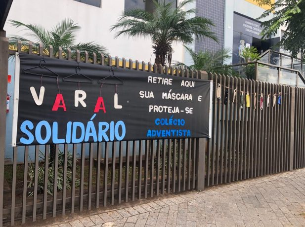 Varal Solidário: Colégio oferece máscaras gratuitas para comunidade