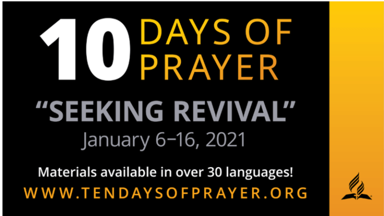 Annual 10 Days of Prayer Program Taking Place in January. :Adventist News Online