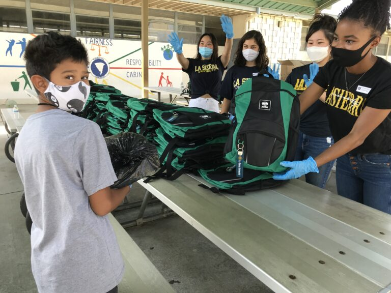 School Kids Get 5,000 Backpacks Through ADRA, La Sierra University Partnership