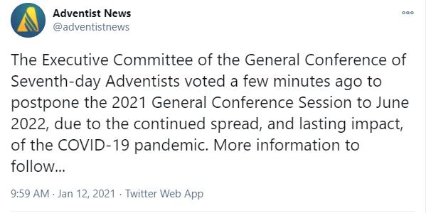 Nuevo aplazamiento de la sesión de la Conferencia General